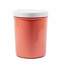 "Container for bulks and microwave ""Krita"" 1,2 l , coral"