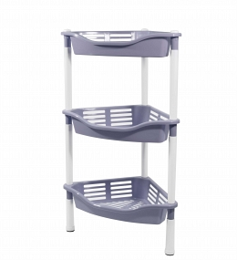 3-section corner stand with baskets Krita , purple fog
